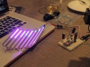 Arduino 8 Band Neopixel Strip Led Spectrum Analyzer Circuit