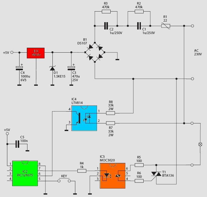 PIC12F675 Digital Brightness Controller