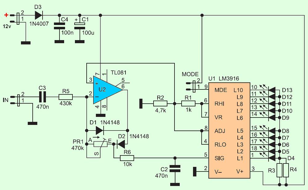 Vu meters schematics