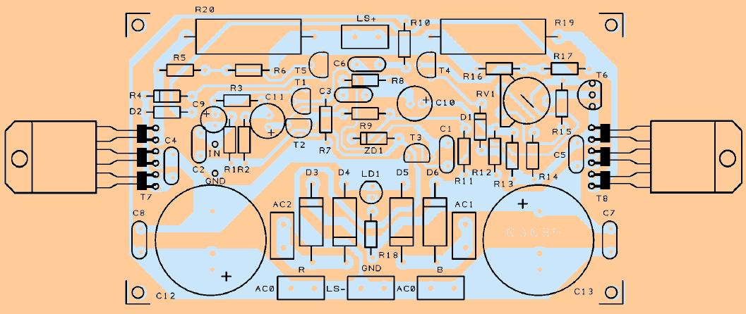 pcb-board-darlington-transistor-tip147-tip142-amplifier