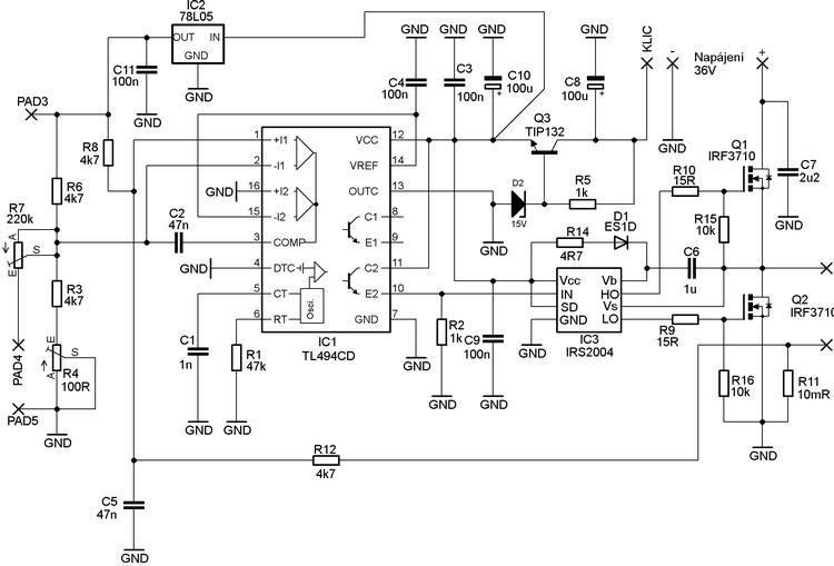 Scooter Motors Control Circuit 500w Tl494