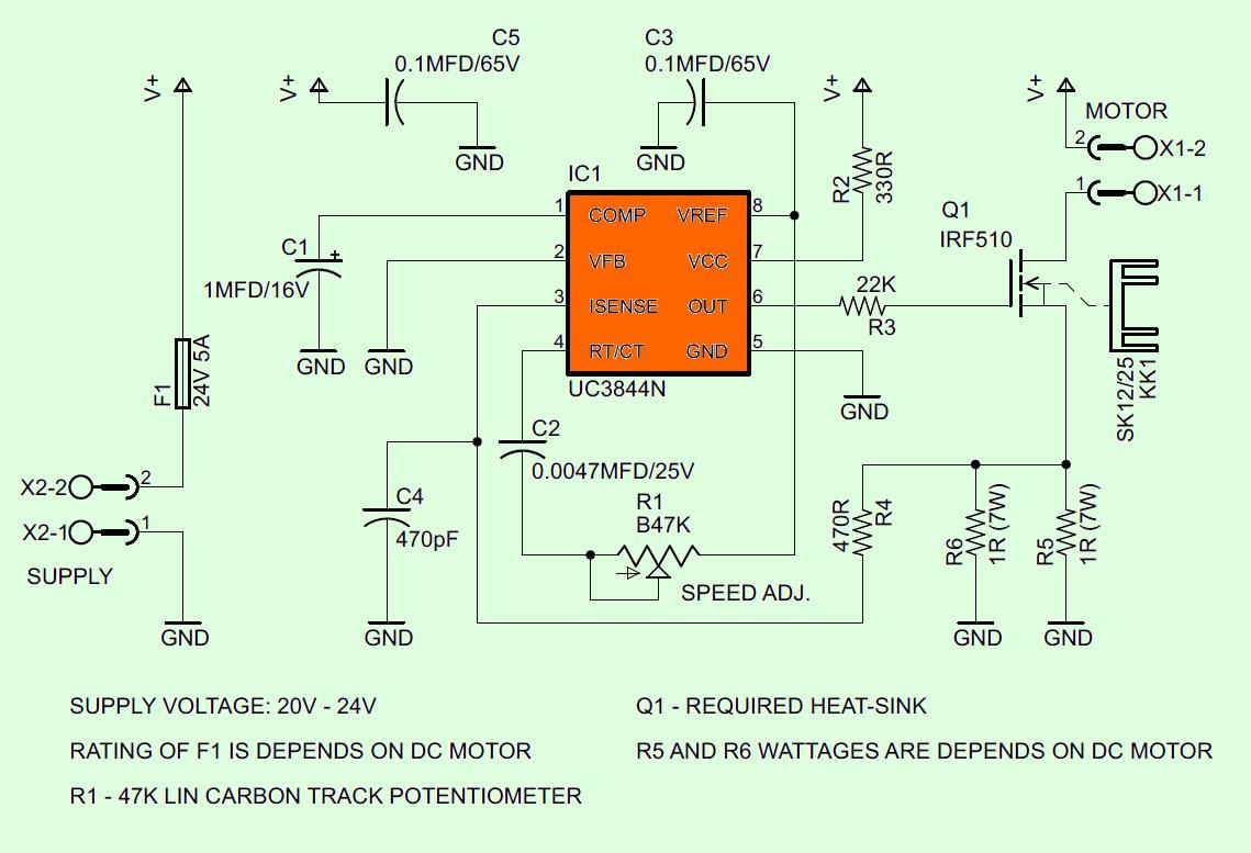 uc3844-motor-speed-controller-pwm-motor-dirver-circuit-schematic-diagram