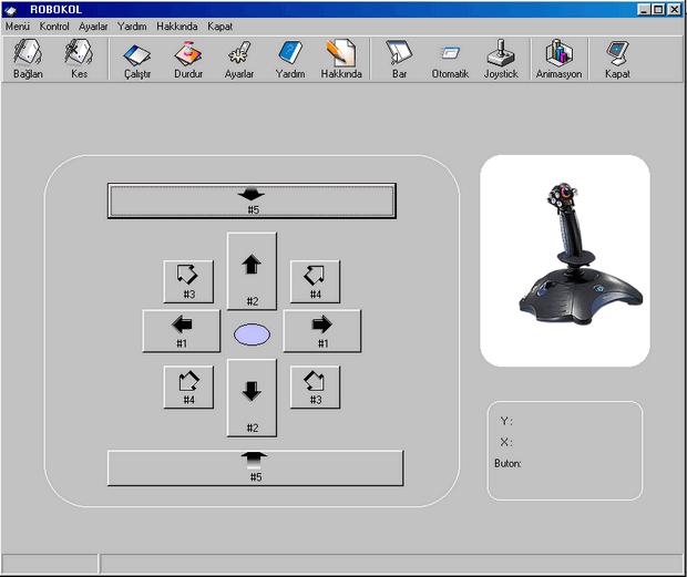 Joystick ile Kontrol Arayuzu