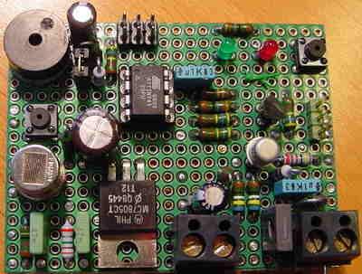 Gas Detector Circuit  ATtiny45 attiny45 gaz dedektor