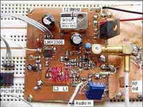 PIC16F870 LMX2306 500mW FM PLL Verici Devresi