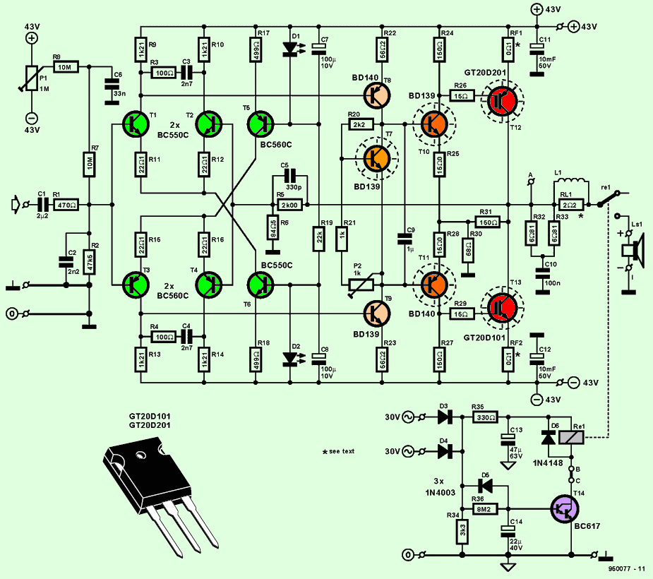 igbt-amplifier-circuit-schematic