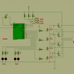 pic16f84 step motor kontrol sürücü devresi