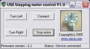 PIC18F4550 Control stepping motor via USB interface delphi step motor program
