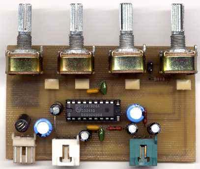 Усилителем мощности на TDA-1558.  Стереофонический темброблок выполнен на интегральной микросхеме TDA-1524