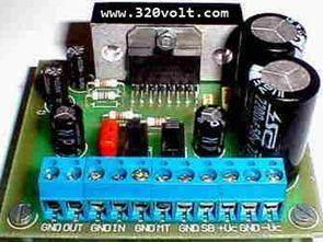 TDA7294 100 Watt Entegreli Anfi Devresi