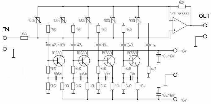 100 watt hifi amplifier circuit and 5