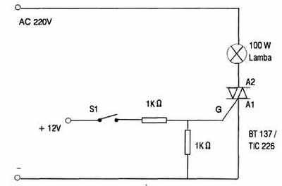 triak_triac-switch Trigger đơn giản với DC Trigger