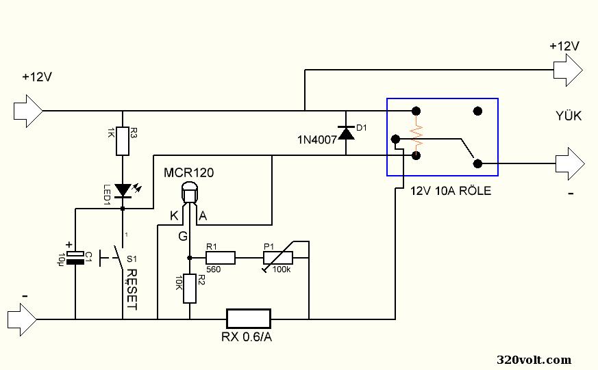 mcr120-scr-overcurrent-protection-circuit