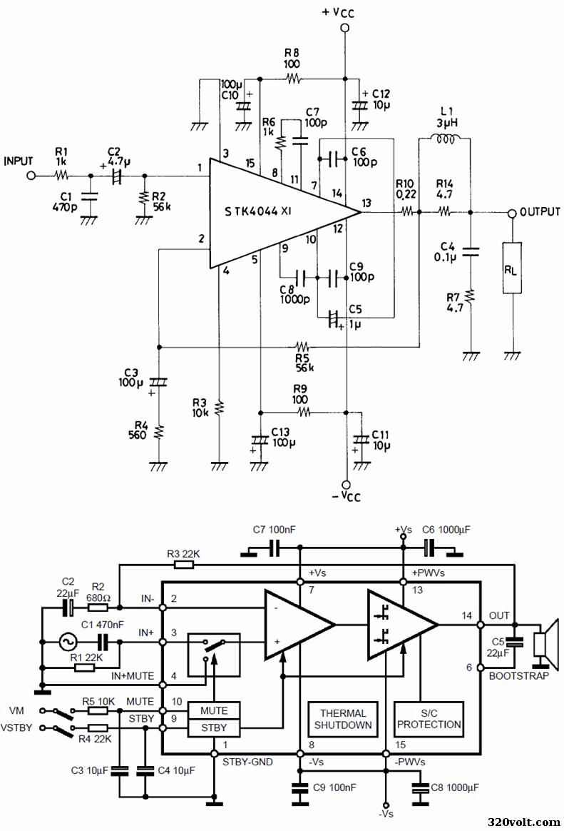 stk4044-schematic-tda7296-schematic-diagram