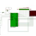 PIC16F877 ile display göstergeli 10 bit adc devresi