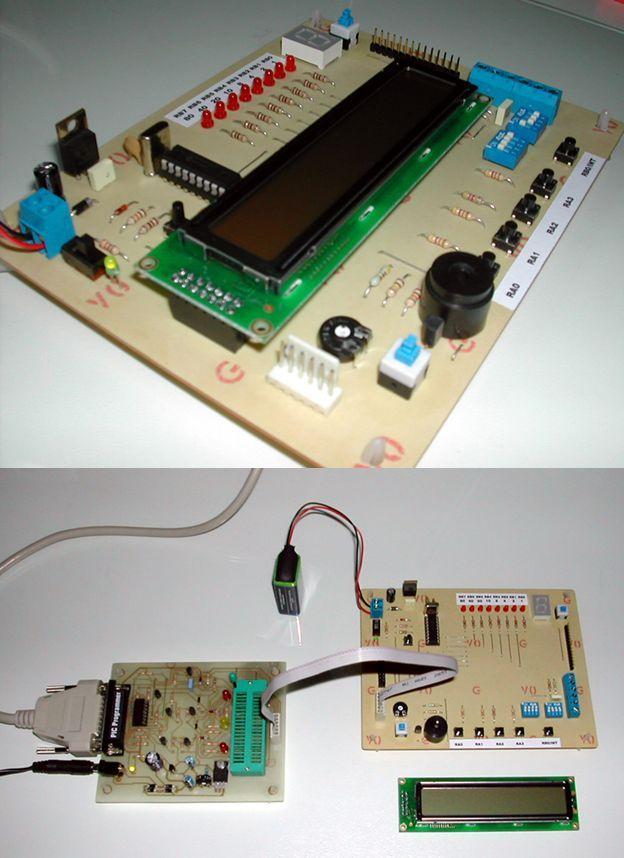 PIC16F84 Development Board PLAY PIC development board pic deneme devresi pic deney setleri pic16f84 playpic