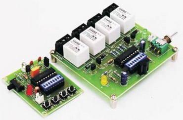 Điều khiển chuyển tiếp điều khiển từ xa 4 kênh
