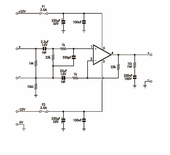 20W Amplifier Circuit with LM1875.