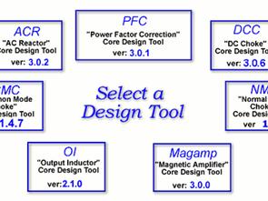 Nüve Ferit Hesapmala Programları DC Choke (DCC) Core Design Tools