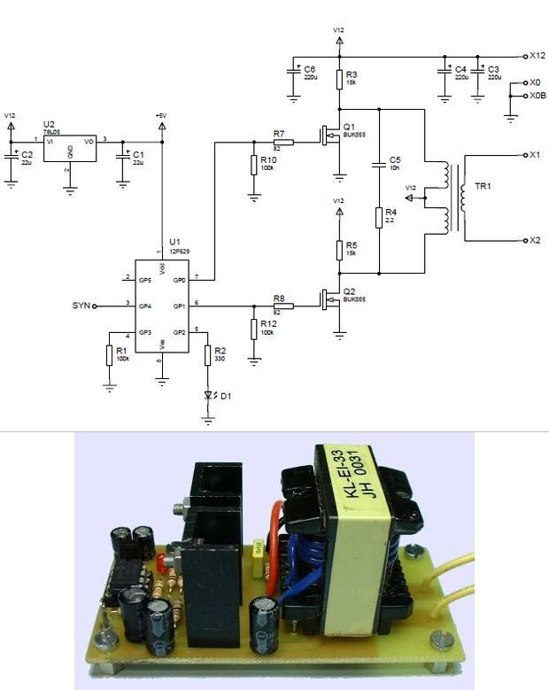 pic12f629-transformer-recovered-pc-power-supply-ei33-pwm-microcontroller