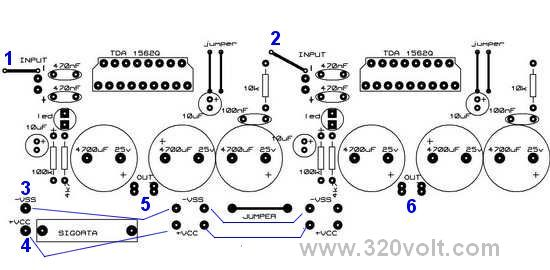 tda1562q stereo amplifier project