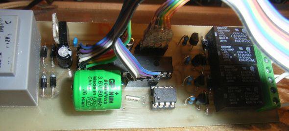 PIC18F2320 Timer Digital Group Socket 2v kapali transformator trafo devre pcb microchip pic regulator