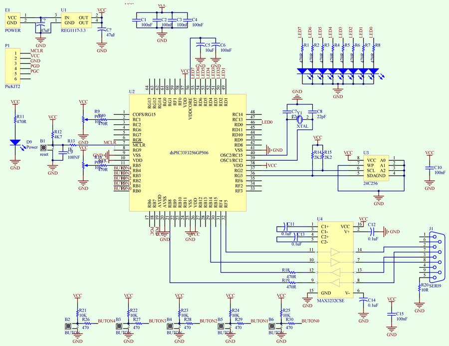 dspic-simple-test-board-schematic-diagram