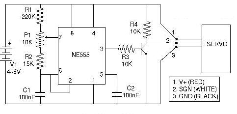 trình điều khiển servo ne555