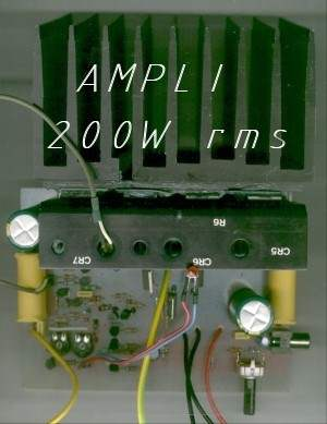 RMS 100W Mosfet Amplifier Circuit ampli mos200