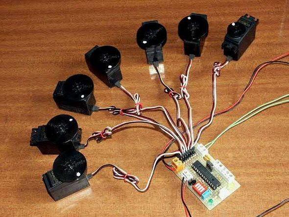 robot-thiết kế-điều khiển-mô-đun-8-kênh-analog-servos-5-i2c-bus