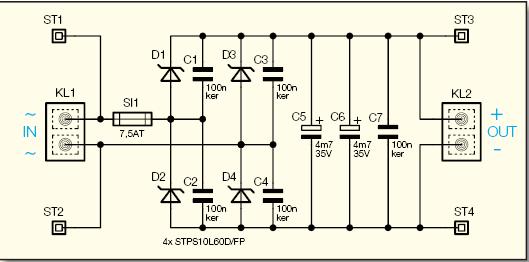 12V 7A Rectifier Filter Circuits 12v 7 amper dogrultucu