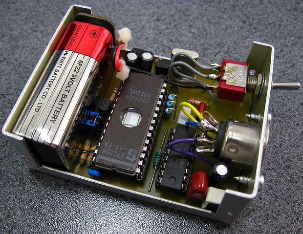 27C128  Frequency Generators 27c128 cd4020 eeprom frekans tone generator