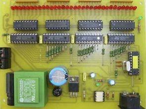 74LS574 ULN2803 PIC16F84 ile 32 Çıkış Midi Dekoder