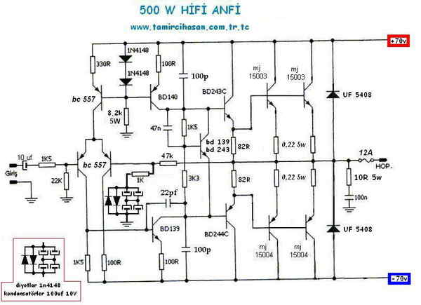 free wiring diagram  2sc5200 2sa1943 500watt amplifier circuit diagram