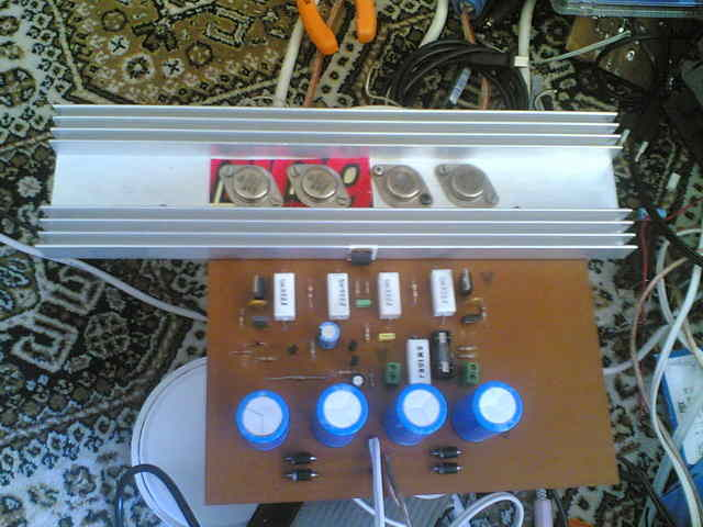Simple 500w Audio Power Amplifier Circuit Diagram With Transistor