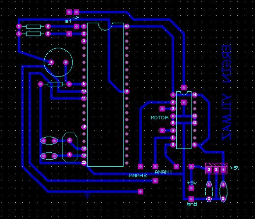 AT89C51 L293D DC Motor with Door Control Circuit maket ev pcb