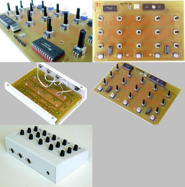 PIC17C77 Midi Control Circuit MC14067 mc14067 midi control pic17c77 midi kontrol midi devres