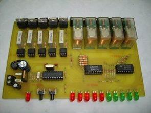 PIC16F84 ile Işık Efekt Devreleri Röle Triyak Kontrollü