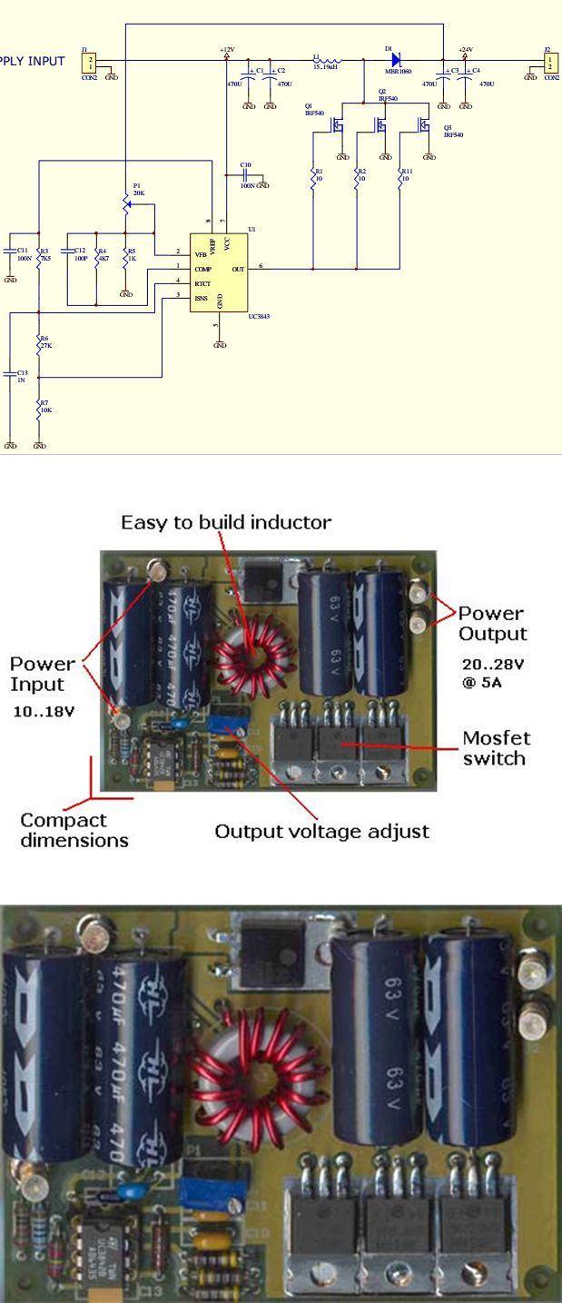 24v-dcdc-cevirici-dcdc-konvertor-dcdc-converter-uc3843-devresi-uc3843-circuit