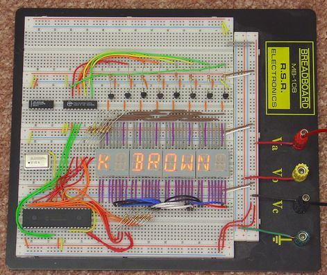 Alphanumeric Display Drivers Circuit with PIC16F874 Hi tech C alfanumerik segment led display