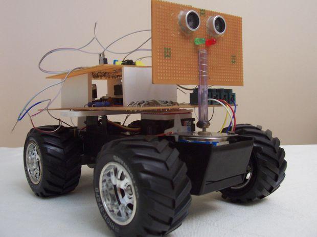 gezgin-robot-motor-pic16f877-rf-robot-robot-yapimi-rs232-servo-surucu-ultrasonik-sensor