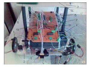 PIC16F877A ile hedef bulan robot projesi