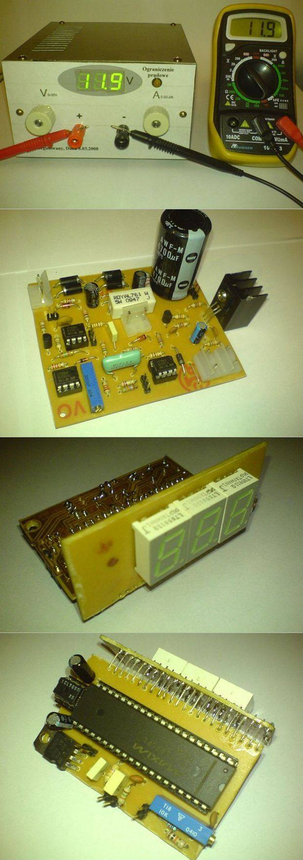 0 2a 30v Regulated Power Supply Circuit Electronics Projects Diagram Icl7107x Ayarli Guc Kaynagi Lab
