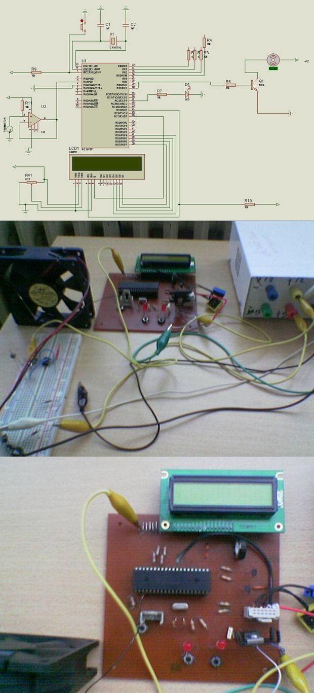 LCD-LM741-PIC16F877 PWM-nhiệt độ-control-NTC nét nét-PTC-thermistor nét
