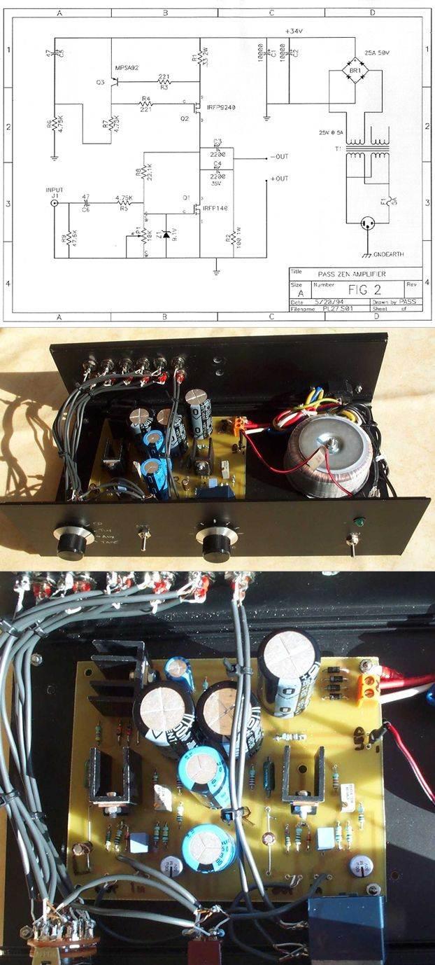 ZEN Class A Amplifier Circuit IRFP140 IRFP9240 anfi class a irfp140 irfp9240 zen amp zen amplifier class a anfi