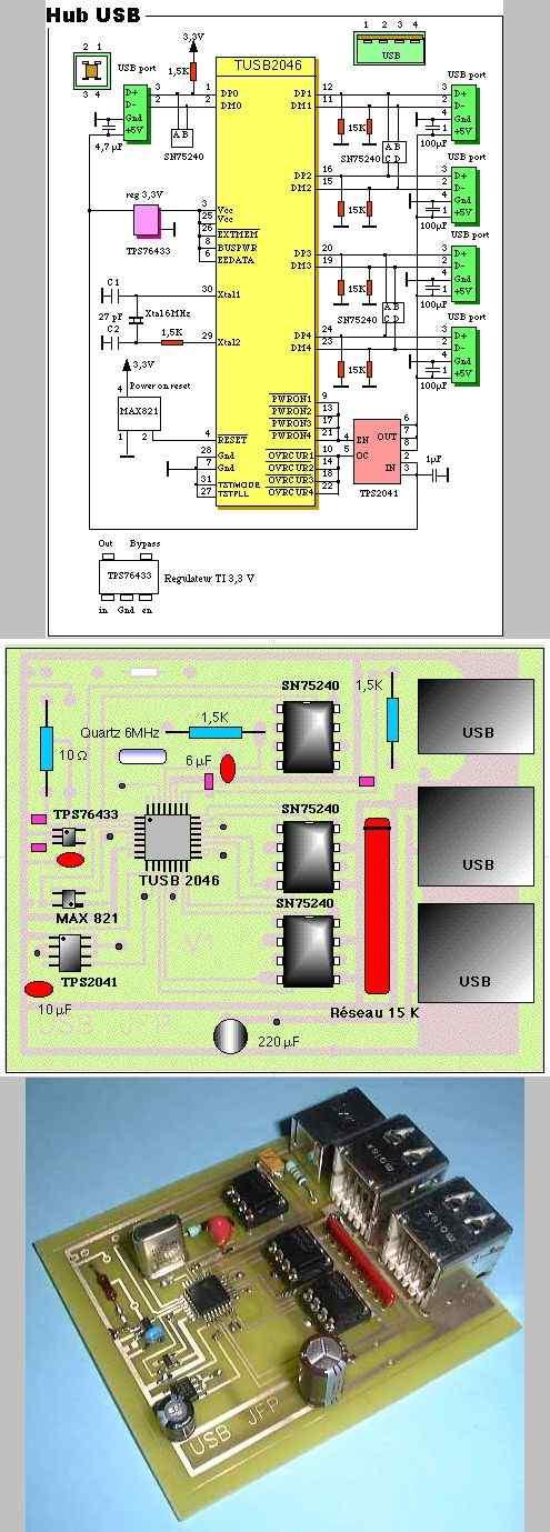 max821-tps76433-tusb2046-usb-usb-hub-circuit