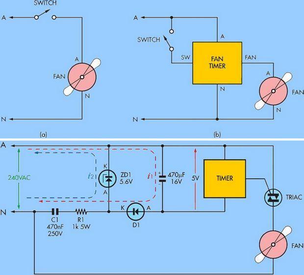 220v-bta08-600tw-PIC16F88-timer-TRIAC mạch-thời gian-mạch