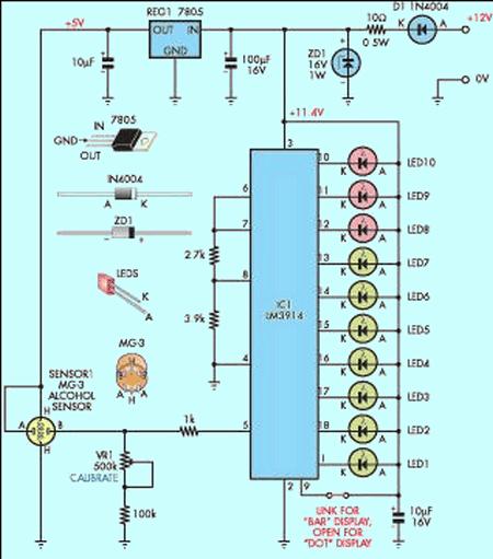 alkol-seviye-olcer-alcohol-level-meter-circuit