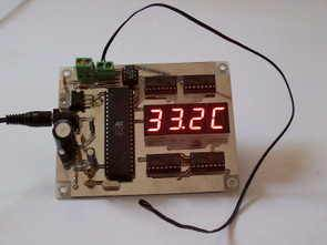 AT89S52 Termistor Termometre LCD Display