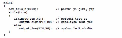 c yazılımı